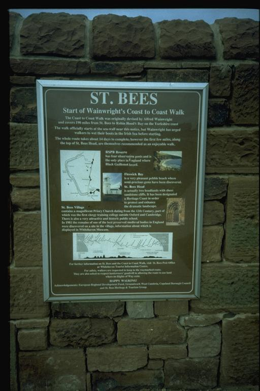 St Bees Plaque